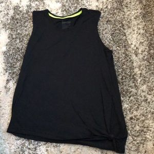 Nike tank with knot at bottom